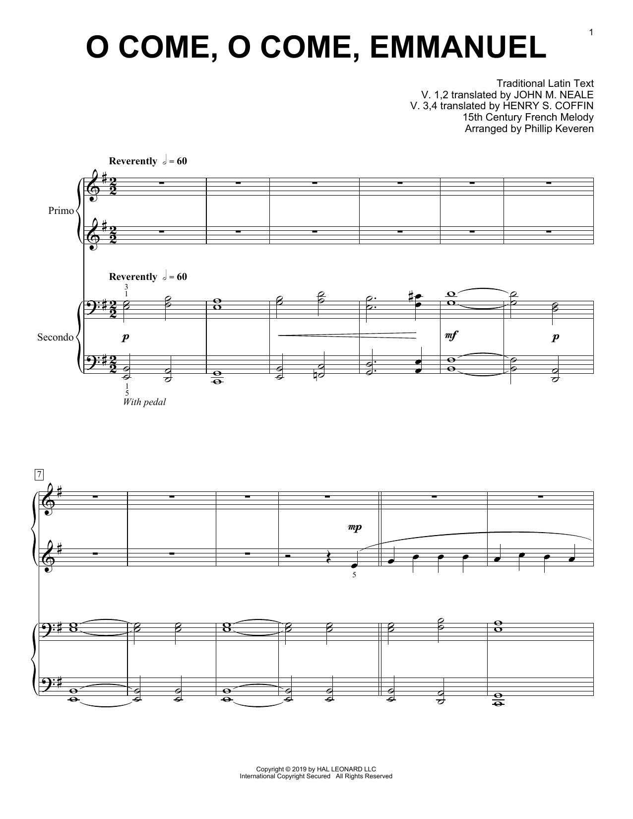 Download 15th Century French Melody 'O Come, O Come, Emmanuel (arr. Phillip Keveren)' Digital Sheet Music Notes & Chords and start playing in minutes