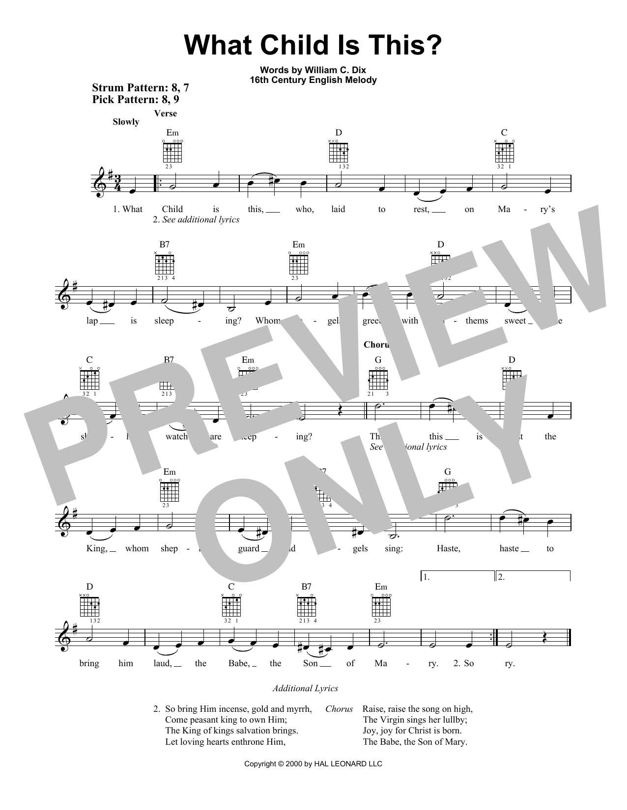 Download William C. Dix 'What Child Is This?' Digital Sheet Music Notes & Chords and start playing in minutes