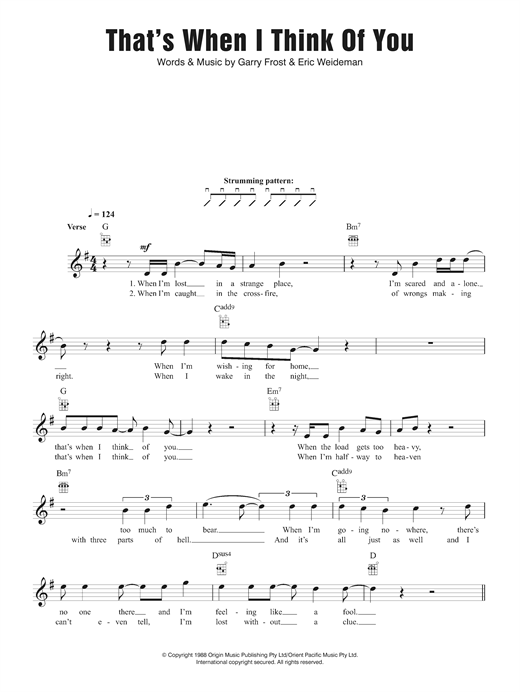 Download 1927 'That's When I Think Of You' Digital Sheet Music Notes & Chords and start playing in minutes
