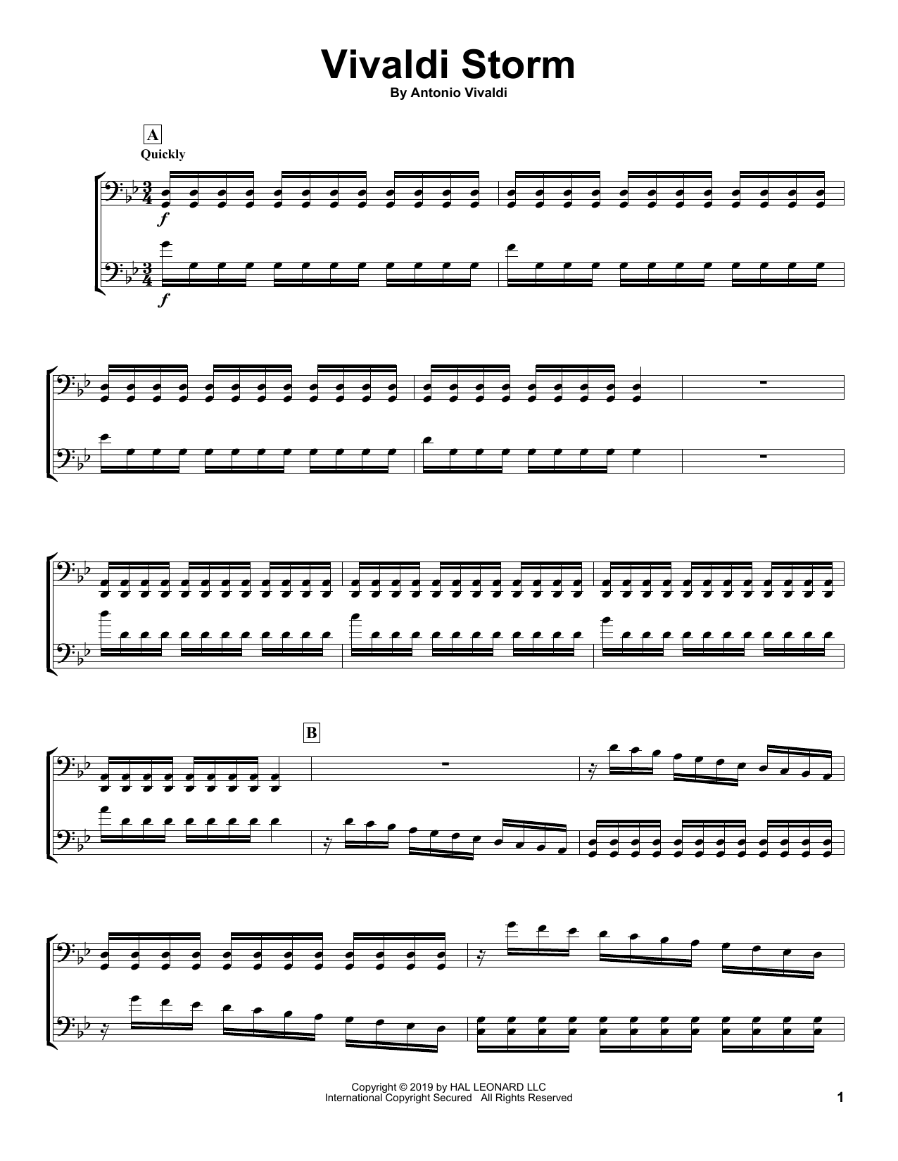 Download 2Cellos 'Vivaldi Storm' Digital Sheet Music Notes & Chords and start playing in minutes