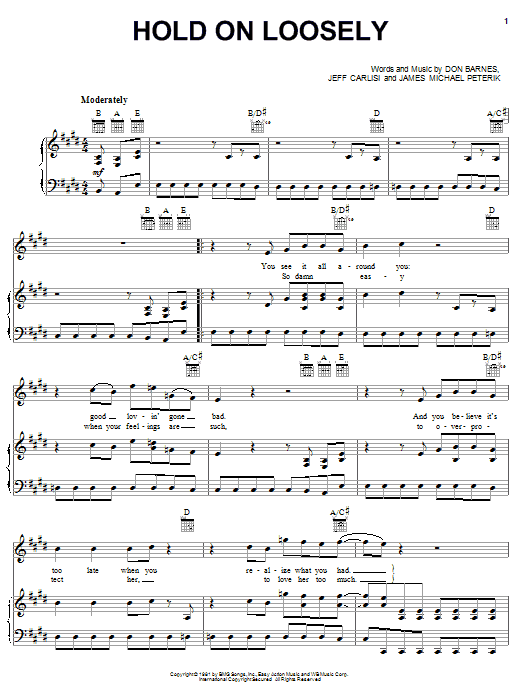 Download 38 Special 'Hold On Loosely' Digital Sheet Music Notes & Chords and start playing in minutes
