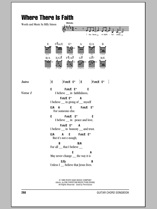 Download 4 Him 'Where There Is Faith' Digital Sheet Music Notes & Chords and start playing in minutes