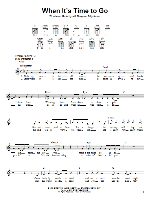 Download 4Him 'When It's Time To Go' Digital Sheet Music Notes & Chords and start playing in minutes