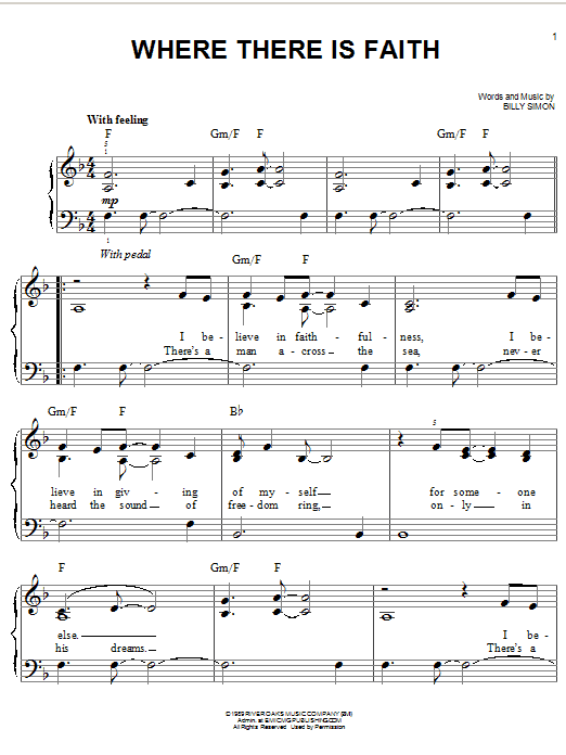 Download 4Him 'Where There Is Faith' Digital Sheet Music Notes & Chords and start playing in minutes