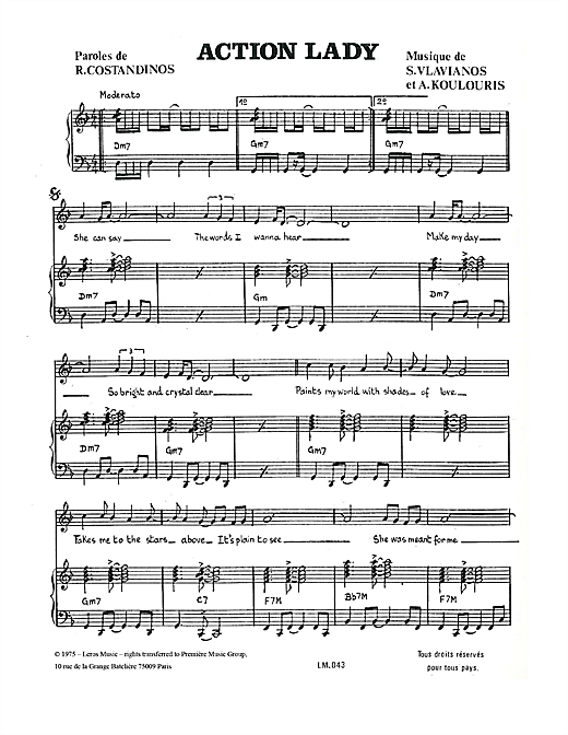 Download A Koulouris 'Action Lady' Digital Sheet Music Notes & Chords and start playing in minutes