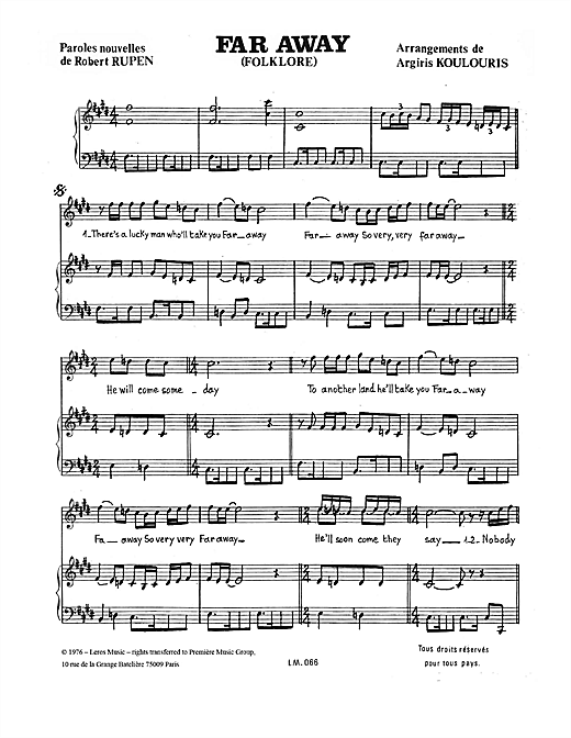 Download A Koulouris 'Far Away' Digital Sheet Music Notes & Chords and start playing in minutes