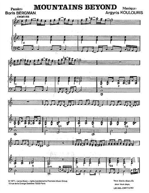 Download A Koulouris 'Mountains Beyond' Digital Sheet Music Notes & Chords and start playing in minutes