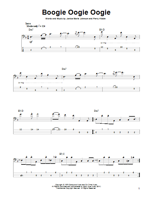 A Taste Of Honey Boogie Oogie Oogie sheet music notes and chords