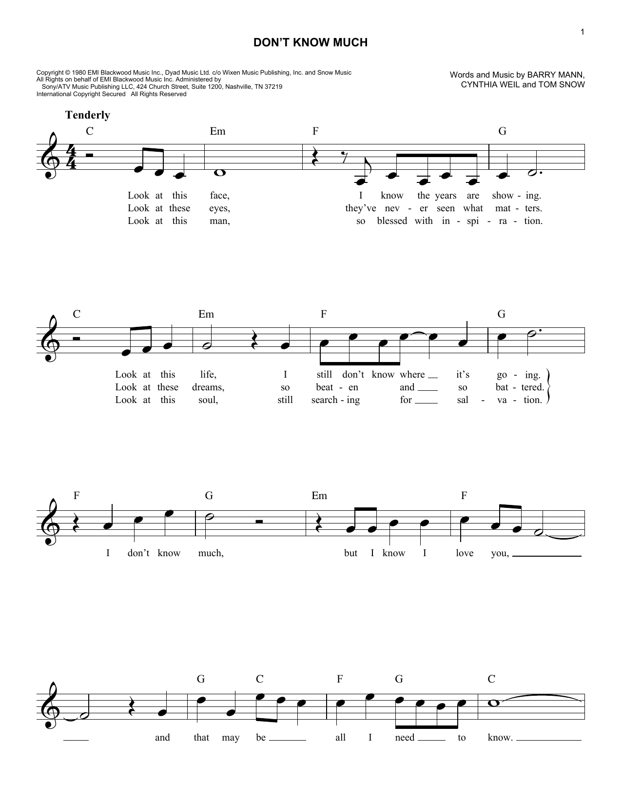Download Aaron Neville and Linda Ronstadt 'Don't Know Much' Digital Sheet Music Notes & Chords and start playing in minutes