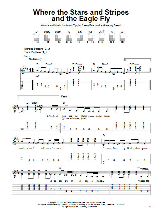 Download Aaron Tippin 'Where The Stars And Stripes And The Eagle Fly' Digital Sheet Music Notes & Chords and start playing in minutes
