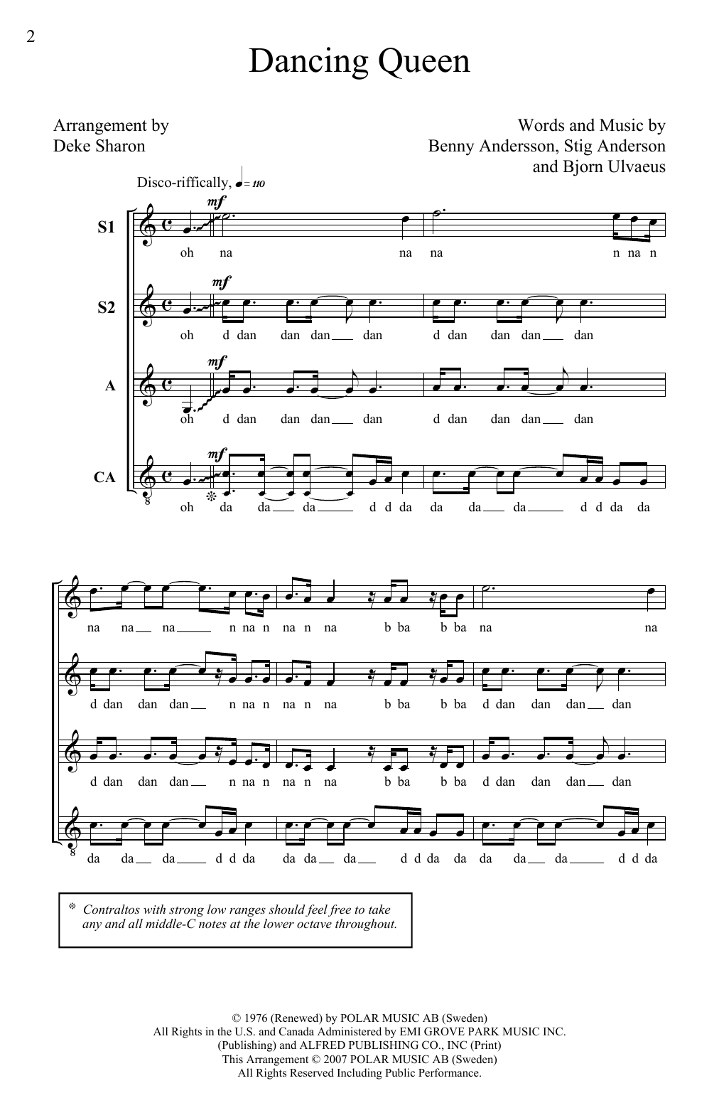Download ABBA 'Dancing Queen (arr. Deke Sharon)' Digital Sheet Music Notes & Chords and start playing in minutes