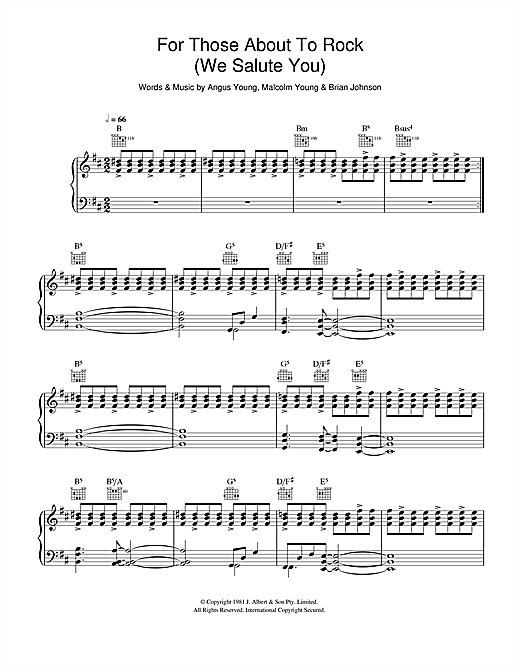 Download AC/DC 'For Those About To Rock (We Salute You)' Digital Sheet Music Notes & Chords and start playing in minutes
