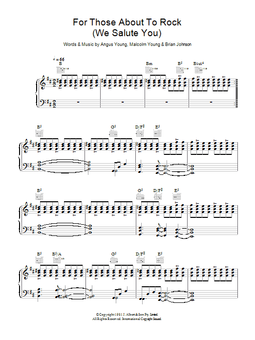 AC/DC For Those About To Rock (We Salute You) sheet music preview music notes and score for Bass Guitar Tab including 12 page(s)