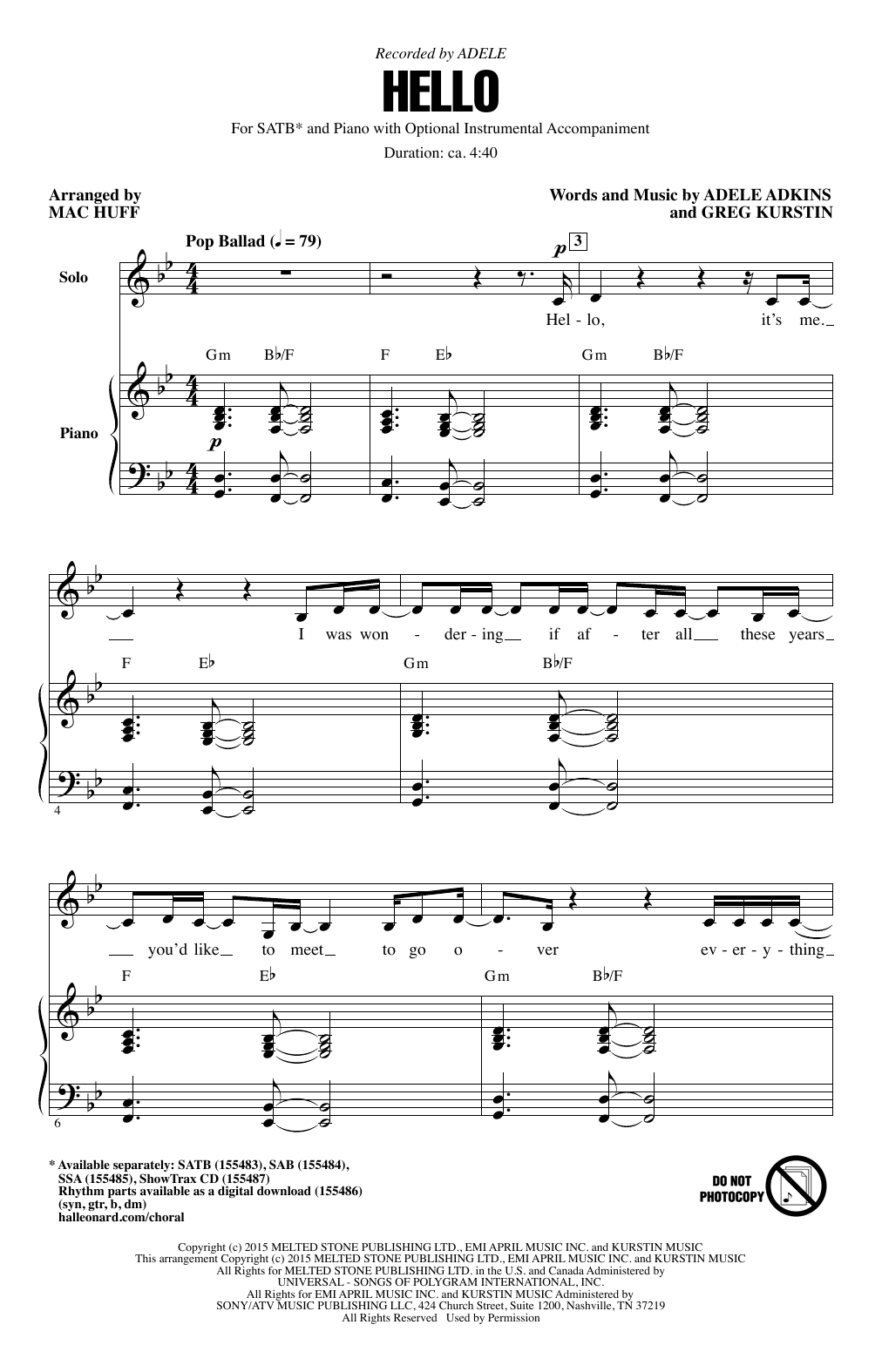 Download Mac Huff 'Hello' Digital Sheet Music Notes & Chords and start playing in minutes
