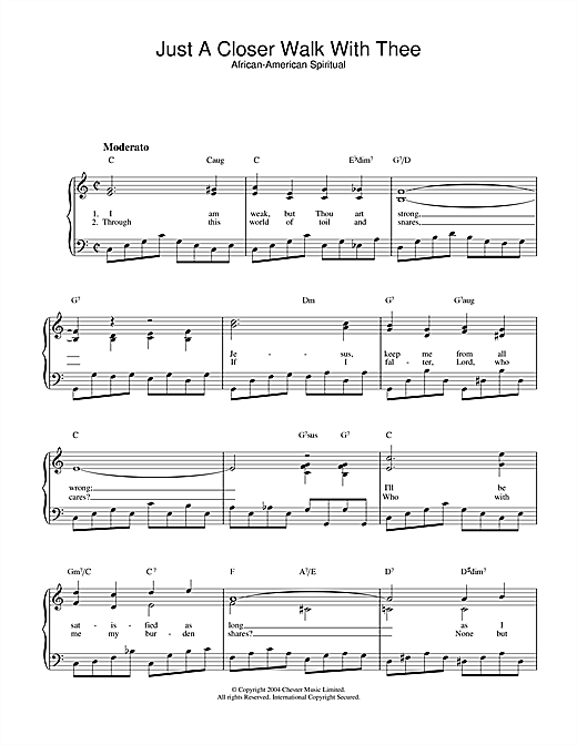 Download Kenneth Morris 'Just A Closer Walk With Thee' Digital Sheet Music Notes & Chords and start playing in minutes