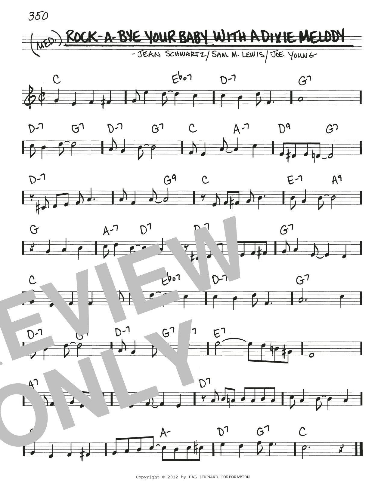 Download Al Jolson 'Rock-A-Bye Your Baby With A Dixie Melody' Digital Sheet Music Notes & Chords and start playing in minutes