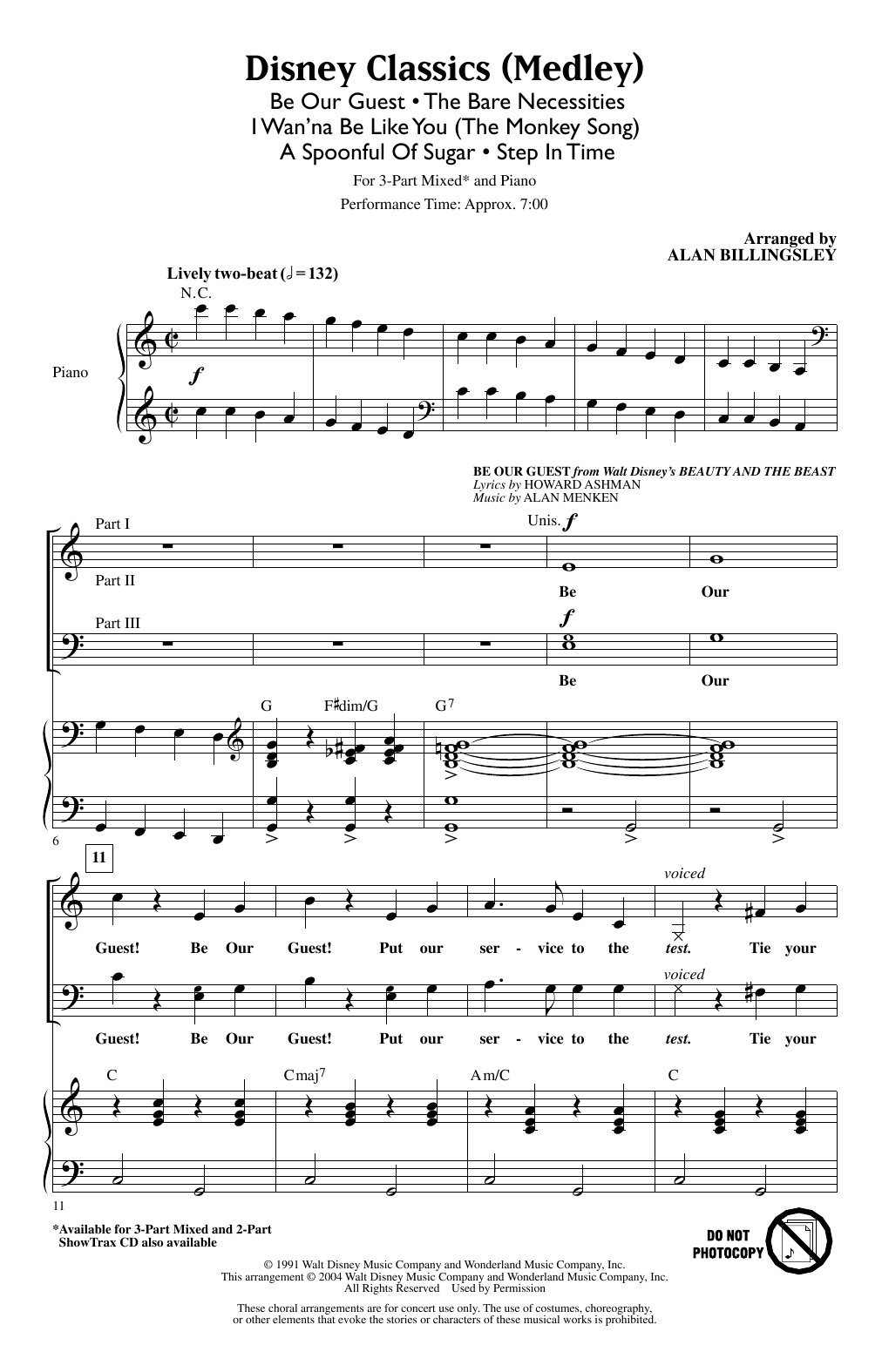 Download Alan Billingsley 'Disney Classics (Medley)' Digital Sheet Music Notes & Chords and start playing in minutes