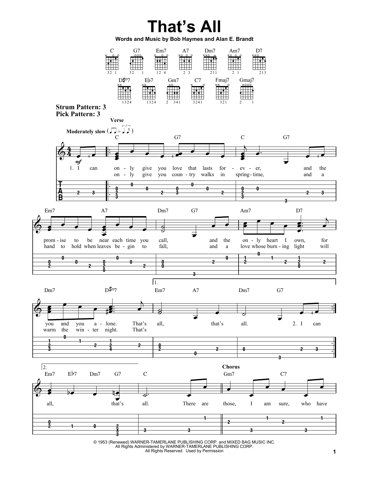 Download Alan E. Brandt 'That's All' Digital Sheet Music Notes & Chords and start playing in minutes
