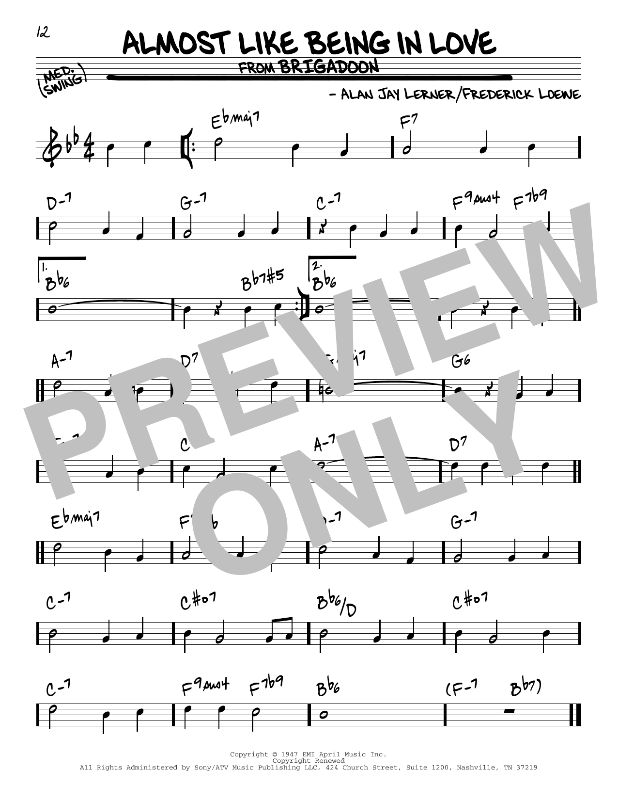 Download Alan Jay Lerner 'Almost Like Being In Love' Digital Sheet Music Notes & Chords and start playing in minutes
