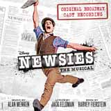Download Alan Menken Seize The Day (from Newsies) Sheet Music arranged for Ukulele Ensemble - printable PDF music score including 2 page(s)