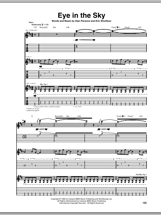Download Alan Parsons Project 'Eye In The Sky' Digital Sheet Music Notes & Chords and start playing in minutes
