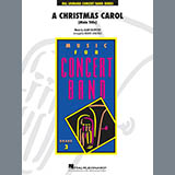 Download Alan Silvestri A Christmas Carol (Main Title) (arr. Robert Longfield) - Eb Baritone Saxophone Sheet Music arranged for Concert Band - printable PDF music score including 2 page(s)