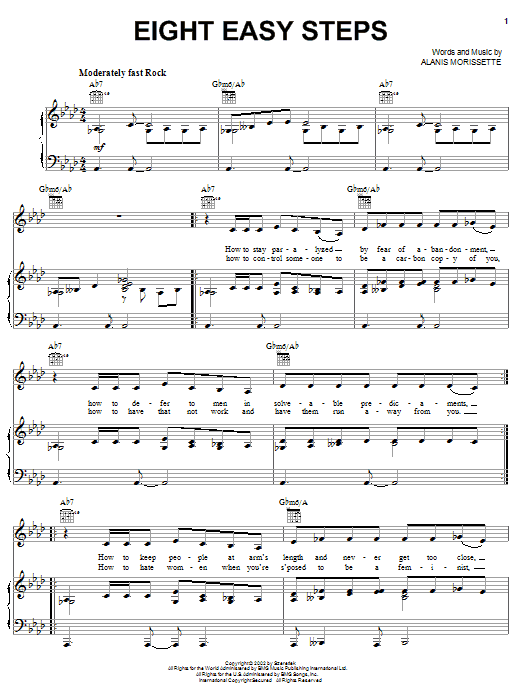 Alanis Morissette Eight Easy Steps sheet music notes and chords