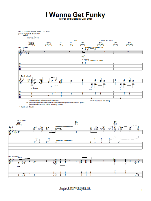 Albert King I Wanna Get Funky sheet music preview music notes and score for Guitar Tab including 8 page(s)