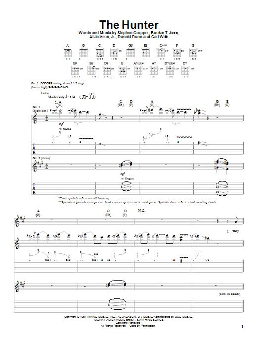 Albert King The Hunter sheet music notes and chords
