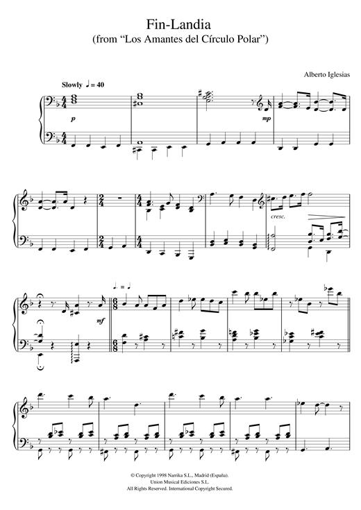Download Alberto Iglesias 'Fin-Landia (from