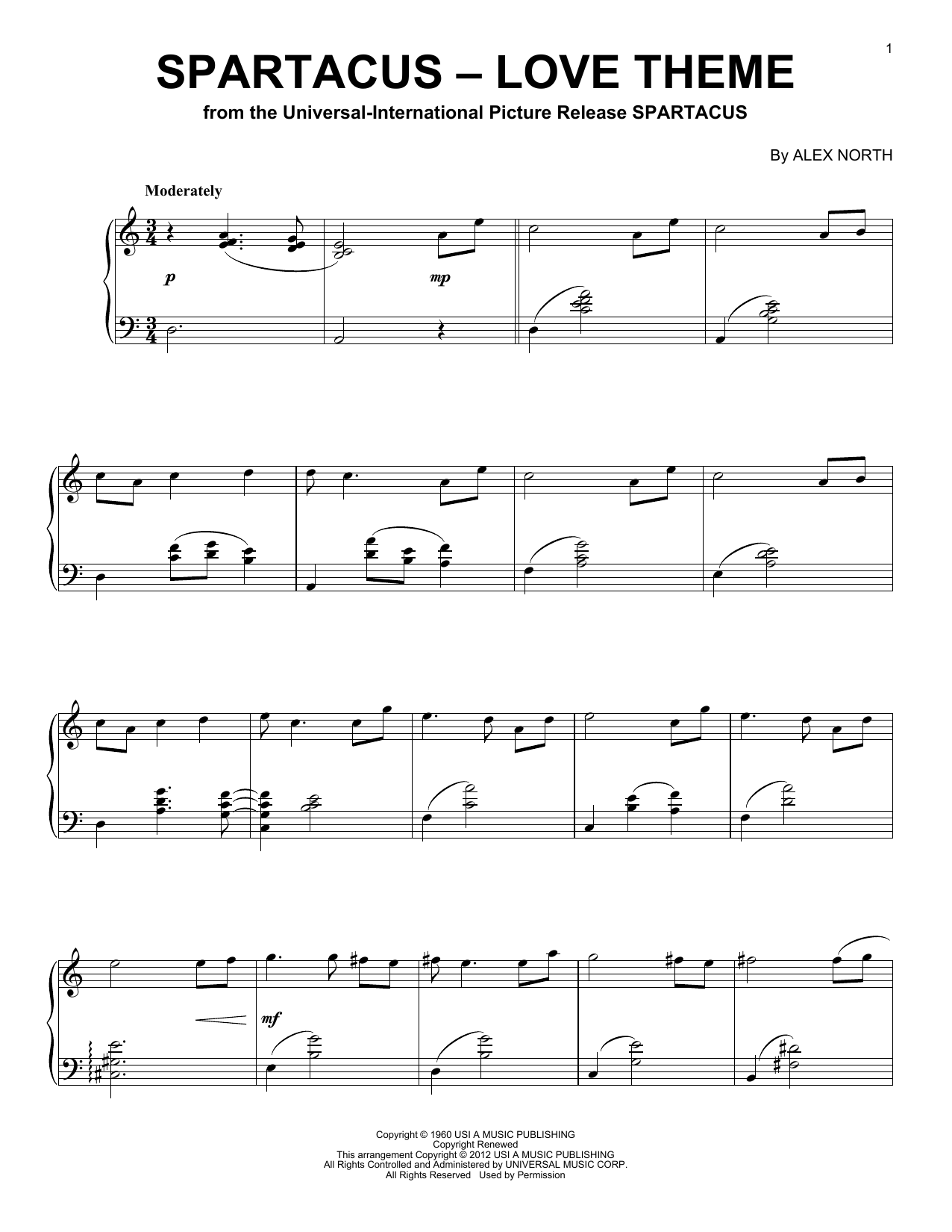 Download Aram Khachaturian 'Spartacus (Love Theme)' Digital Sheet Music Notes & Chords and start playing in minutes