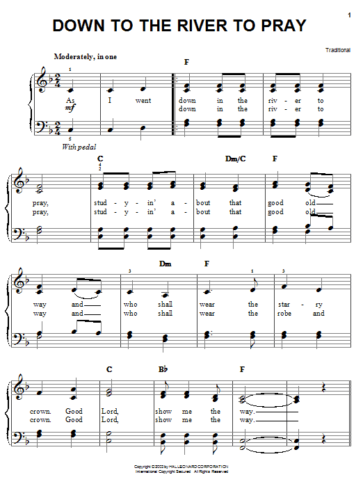 Alison Krauss Down To The River To Pray sheet music notes and chords