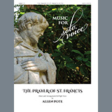 Download or print Prayer of St. Francis (High Voice) Sheet Music Notes by Allen Pote for Piano & Vocal