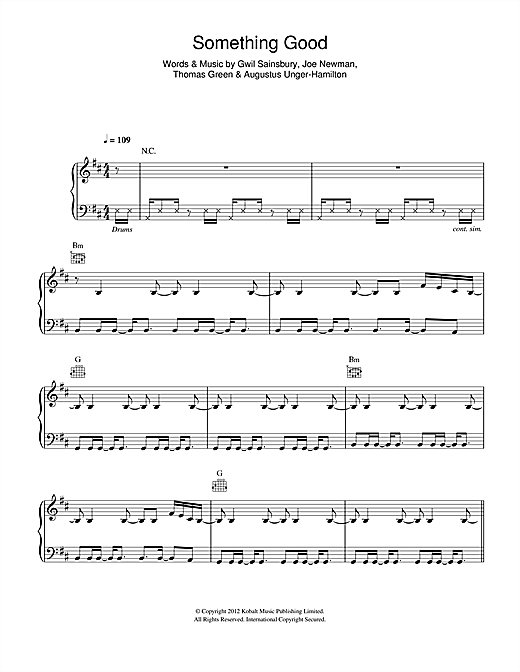 Download Alt-J 'Something Good' Digital Sheet Music Notes & Chords and start playing in minutes