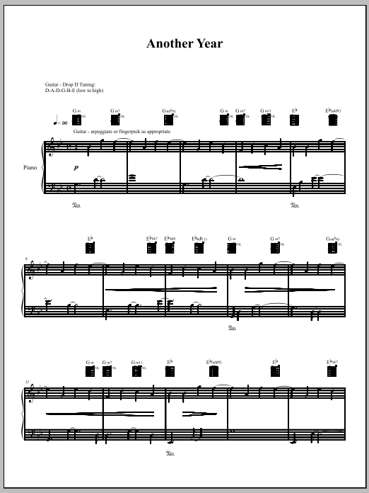 Download Amanda Palmer 'Another Year' Digital Sheet Music Notes & Chords and start playing in minutes