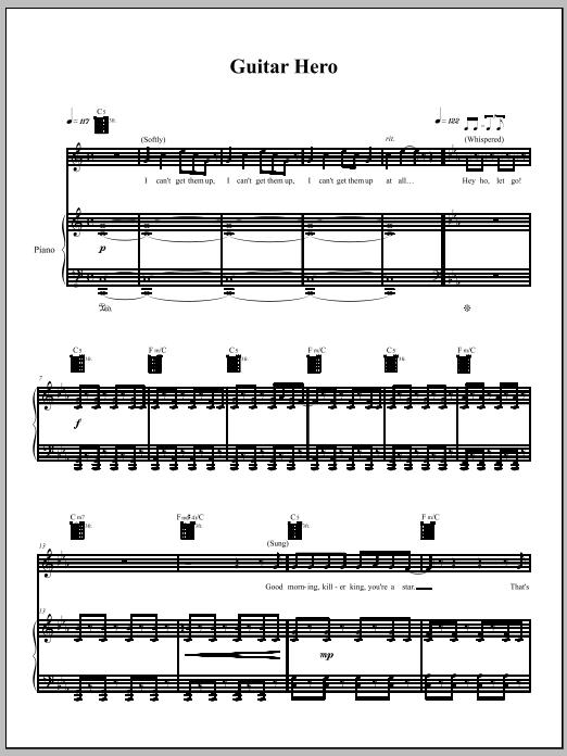 Download Amanda Palmer 'Guitar Hero' Digital Sheet Music Notes & Chords and start playing in minutes