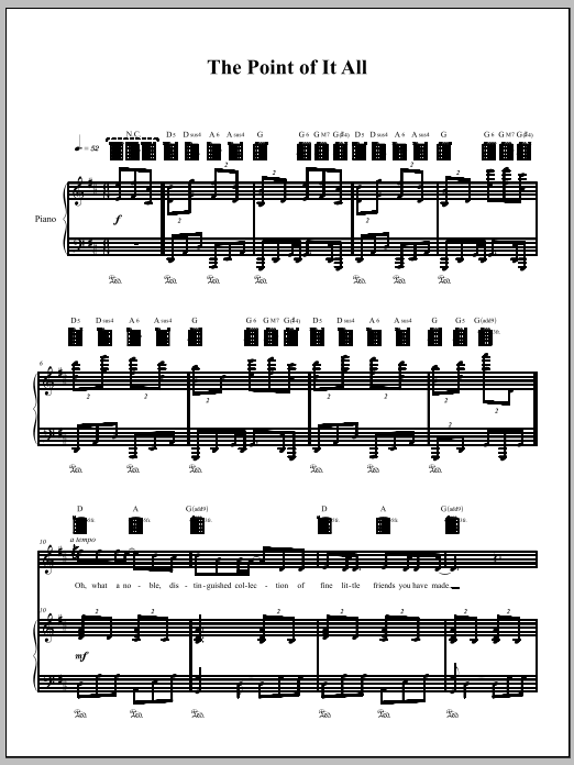 Download Amanda Palmer 'The Point Of It All' Digital Sheet Music Notes & Chords and start playing in minutes