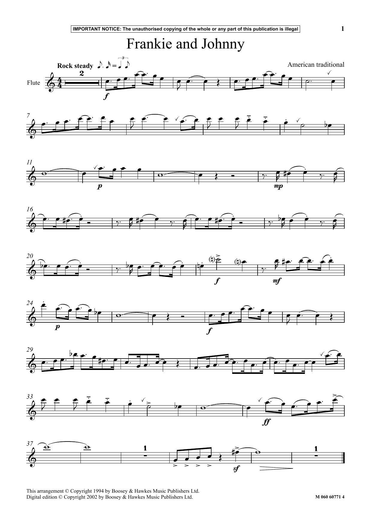 Download American Traditional 'Frankie And Johnny' Digital Sheet Music Notes & Chords and start playing in minutes