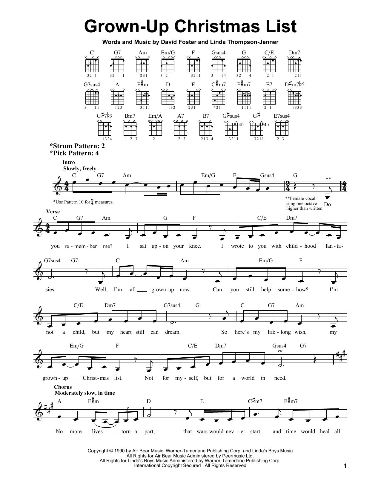 Amy Grant Grown-Up Christmas List sheet music preview music notes and score for Piano Duet including 6 page(s)