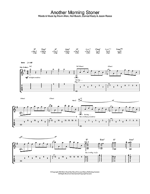 And You Will Know Us By The Trail Of Dead Another Morning Stoner sheet music notes and chords