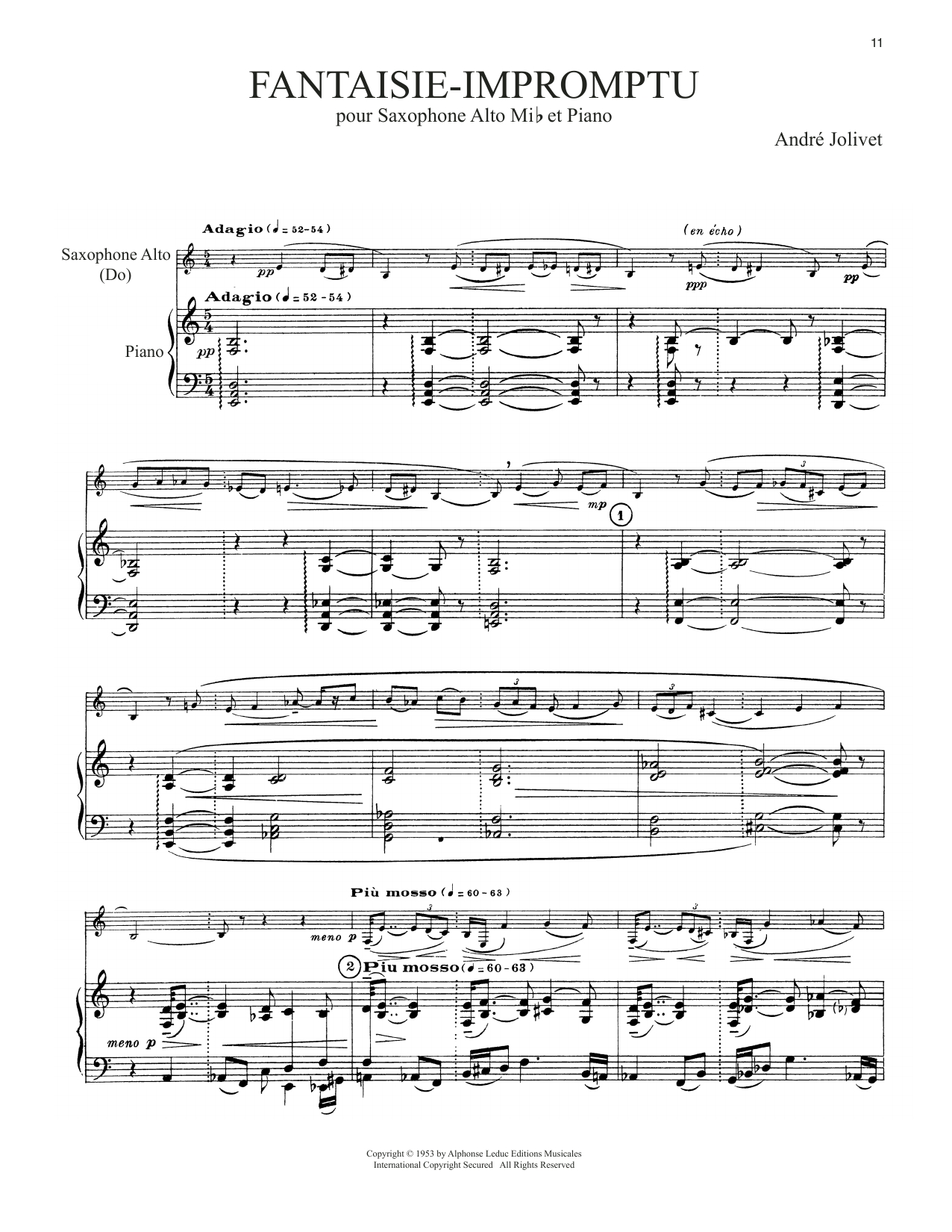 Download Andre Jolivet 'Fantaisie-Impromptu' Digital Sheet Music Notes & Chords and start playing in minutes
