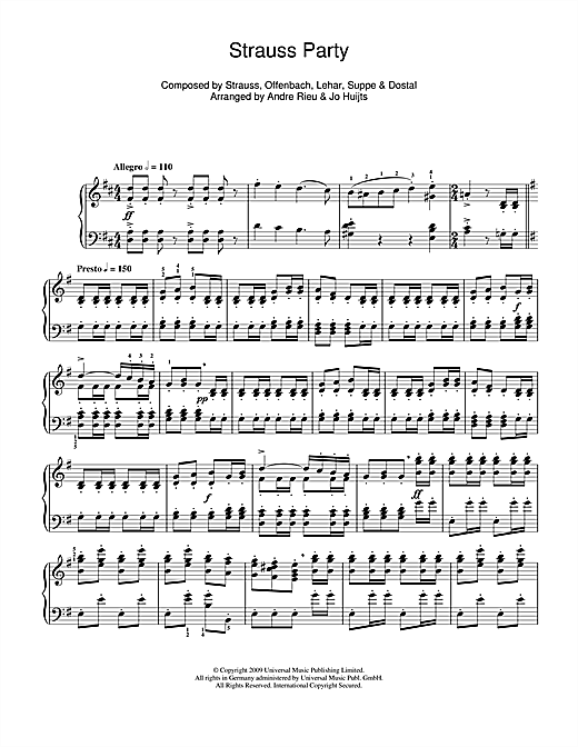 Download Frank Dostal 'Strauss Party' Digital Sheet Music Notes & Chords and start playing in minutes