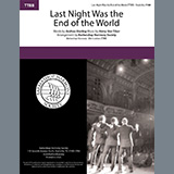 Download Andrew B. Sterling & Harry von Tilzer Last Night Was The End Of The World (arr. Barbershop Harmony Society) Sheet Music arranged for TTBB Choir - printable PDF music score including 4 page(s)