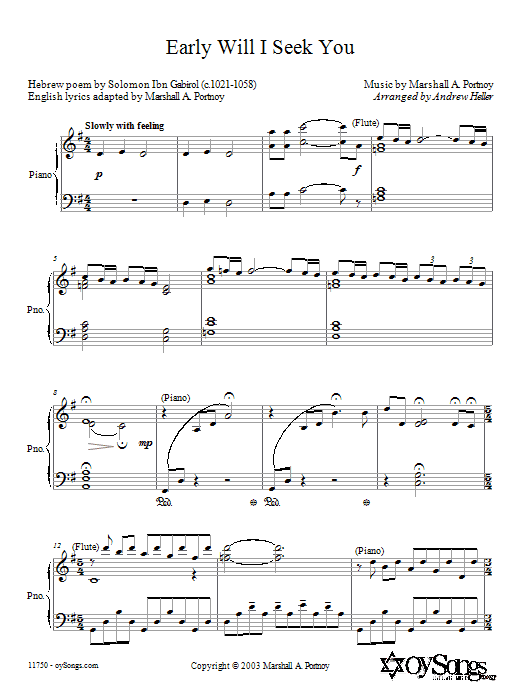 Anderew Heller Early Will I Seek You sheet music preview music notes and score for SATB including 6 page(s)