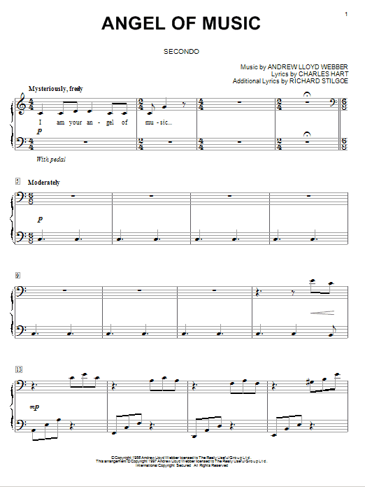 Download Andrew Lloyd Webber 'Angel Of Music (from The Phantom of The Opera)' Digital Sheet Music Notes & Chords and start playing in minutes