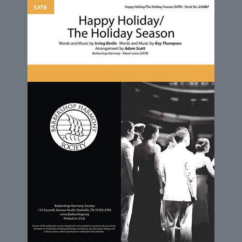 Andy Williams Happy Holiday/The Holiday Season (arr. Adam Scott) profile picture