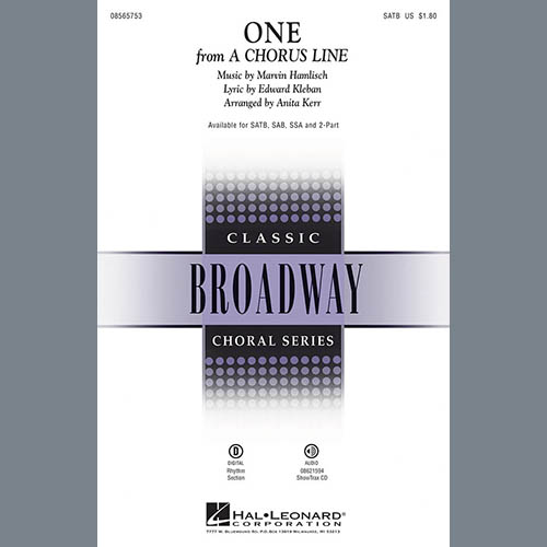 Marvin Hamlisch One (from A Chorus Line) (arr. Anita Kerr) pictures