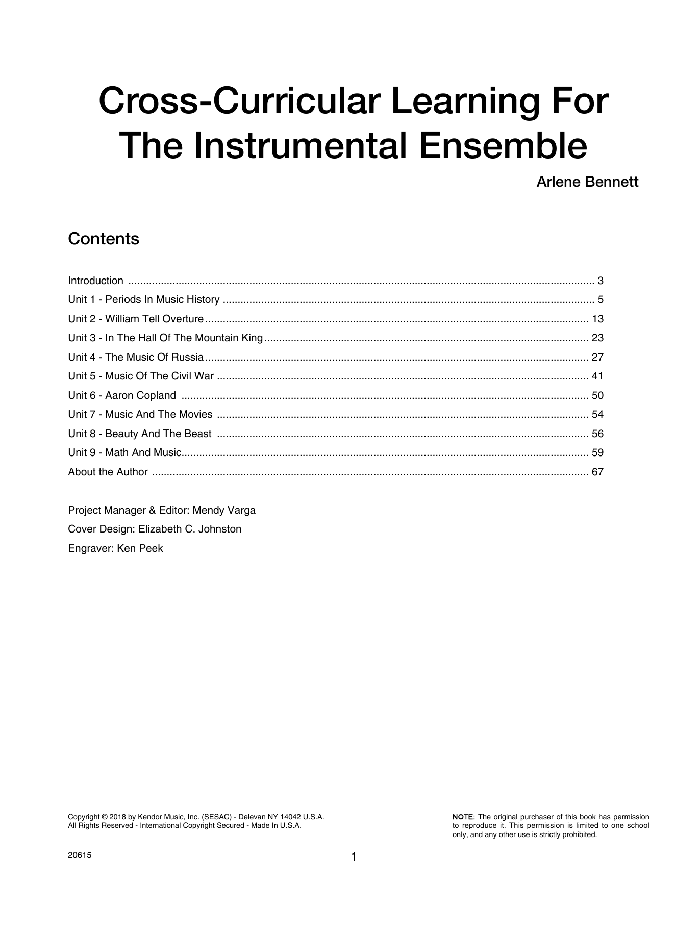 Annette Bennett Cross-curricular Learning For The Instrumental Ensemble sheet music preview music notes and score for Instrumental Method including 67 page(s)