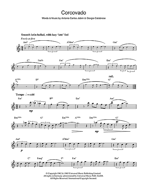 Download Antonio Carlos Jobim 'Corcovado (Quiet Nights Of Quiet Stars)' Digital Sheet Music Notes & Chords and start playing in minutes