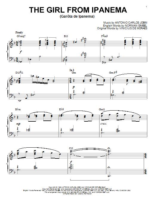 Download Antonio Carlos Jobim 'The Girl From Ipanema (Garota De Ipanema)' Digital Sheet Music Notes & Chords and start playing in minutes